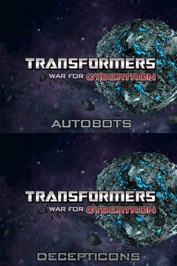 Transformers War for Cybertron Autobot & Decepticon (DS)