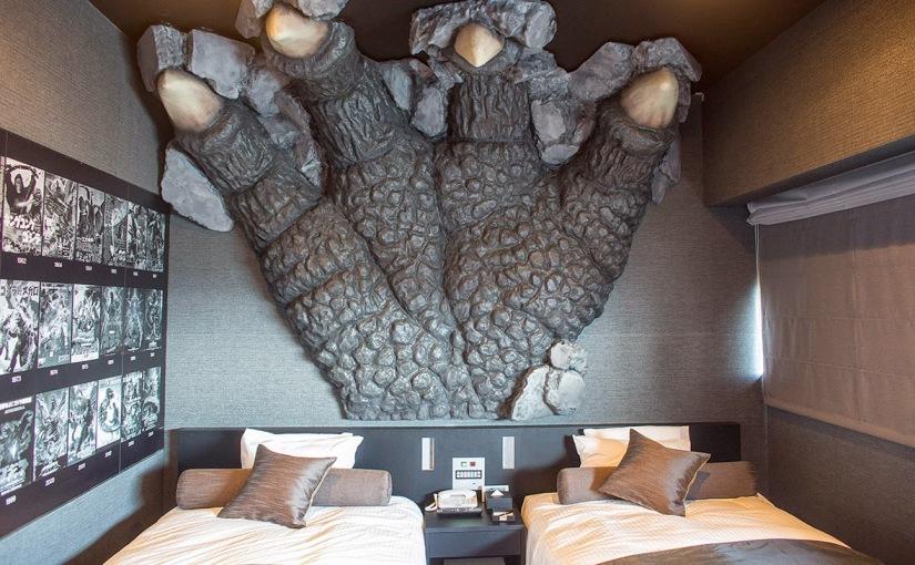 Godzilla attack themed Hotel inTokio