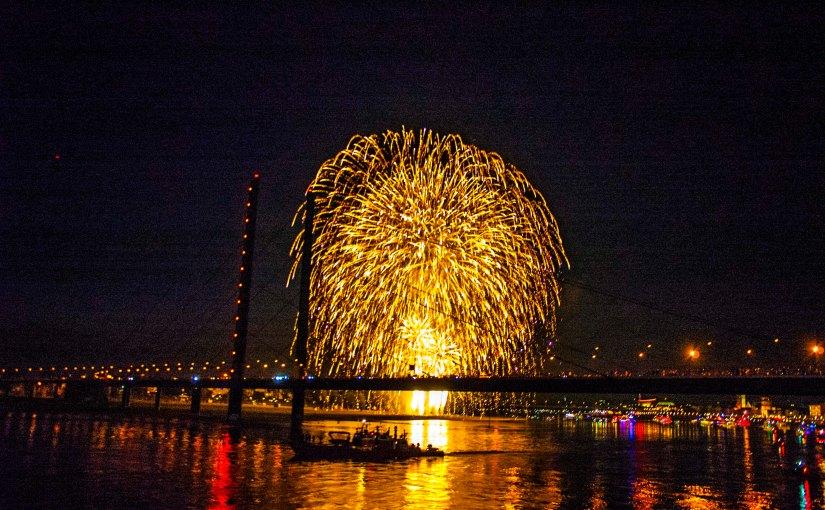 Japantag Feuerwerk @Düsseldorf