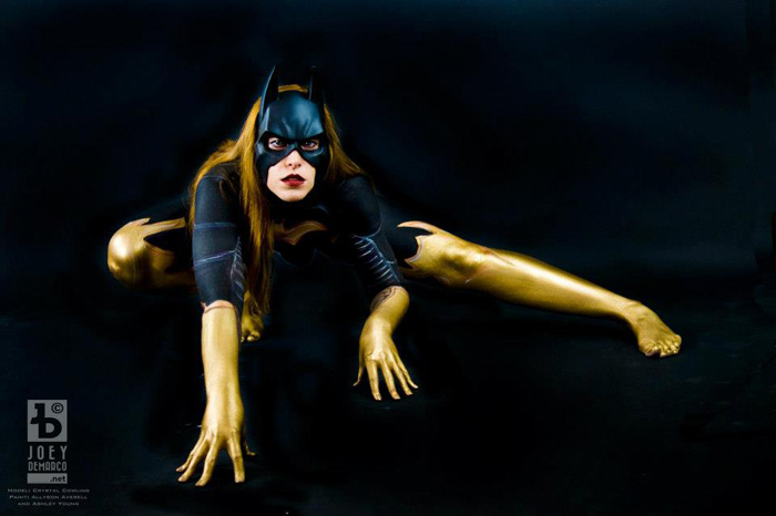 Batgirl Body Paint Cosplay