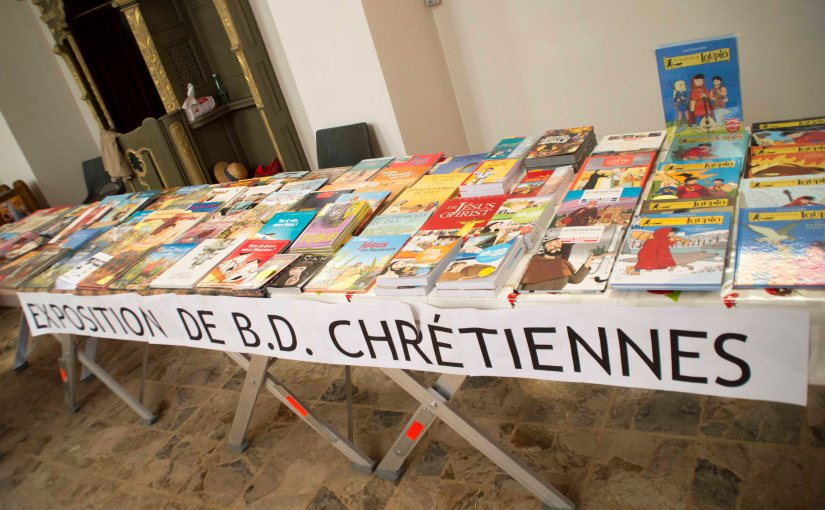 Exhibition at the church «24 Grand Prix du CRIABD en 30 ans» BD Contern 2015
