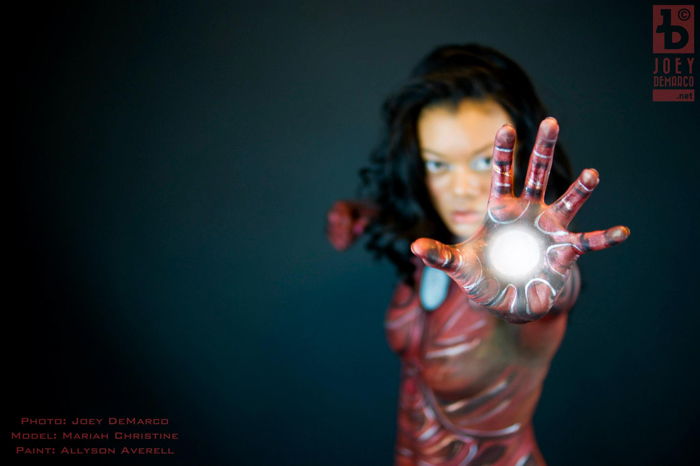 Iron Man Body PaintCosplay