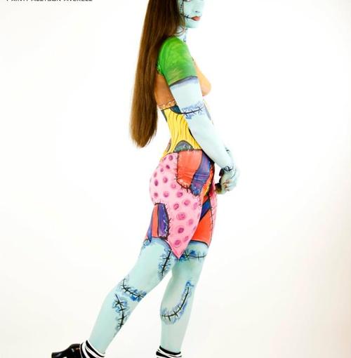 Sally Skellington Body PaintCosplay