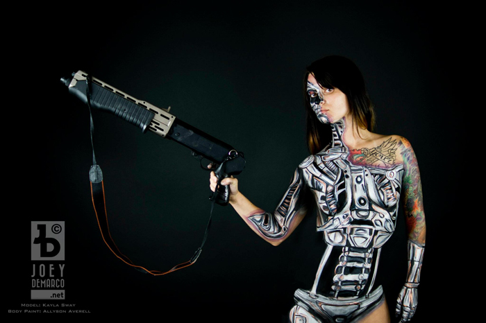 Terminator Body PaintCosplay