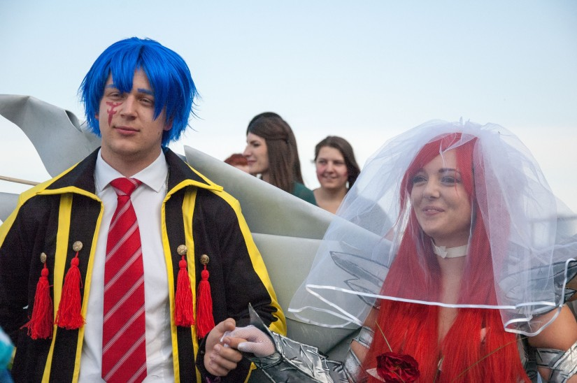 Cosplay wedding between Erza & Gerard from Fairy Tail @ AnimagiC2015