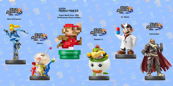 Gamescom 2015 – New amiibos Launching Sept 11th and 25th