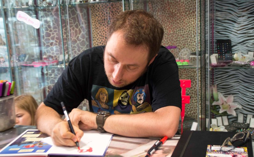 Book signing with Andy Genen at the Inked Geeks
