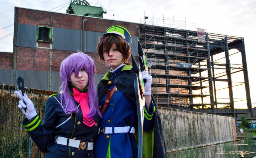Yoichi and Shinoa from Owari noSeraph