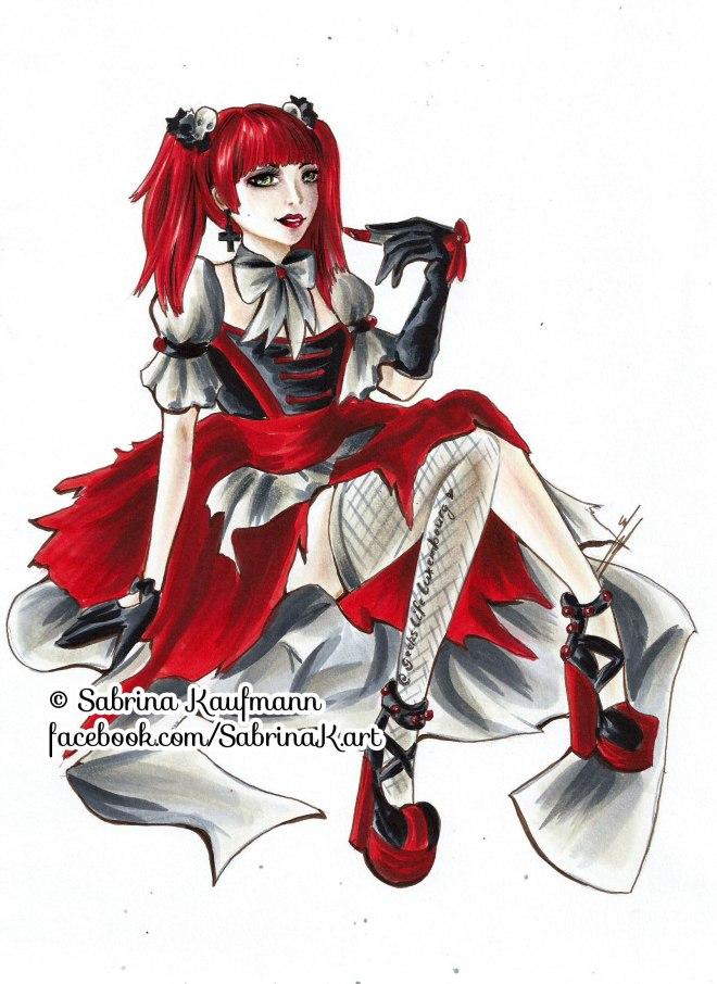 Drawing of Lilith by Sabrina Kaufmann