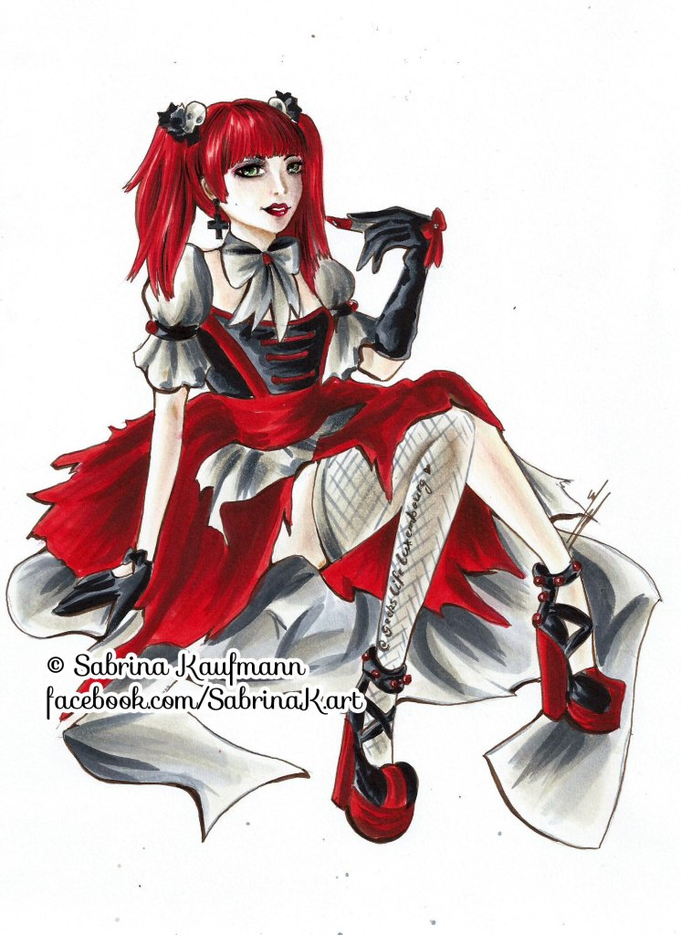 Drawing of Lilith by Sabrina Kaufmann