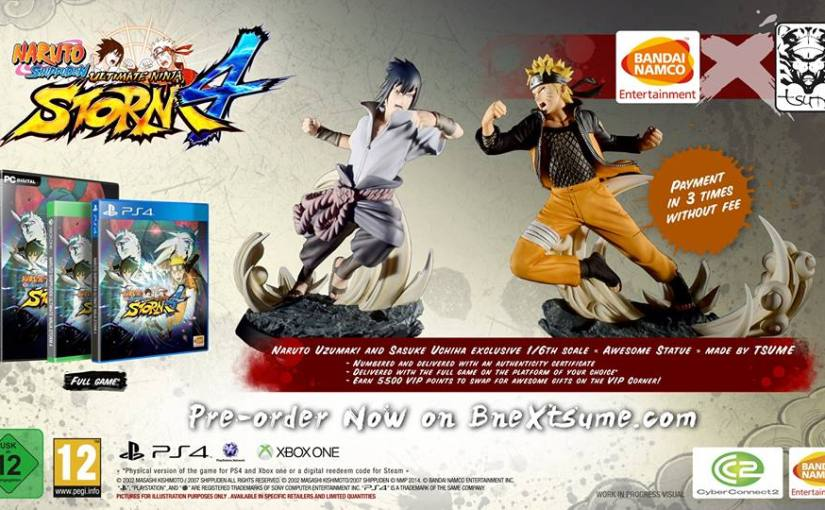 New Tsume Naruto Statues for Pre-ordering Ultimate Ninja Storm4