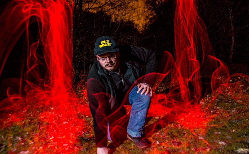 Lightpainting  – Red Aura