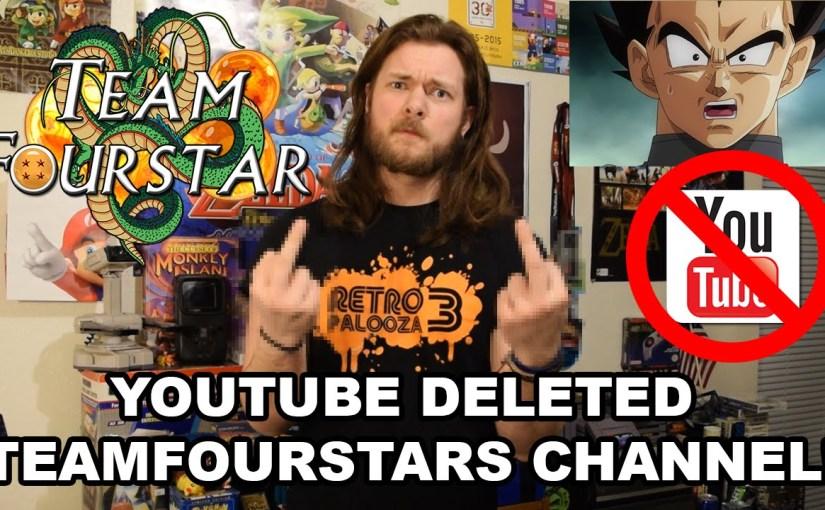 TeamFourStar Channel Deleted?? WTF YOUTUBE??#WTFU