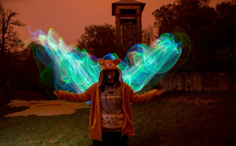 Lightpainting – Angel Wings Mia