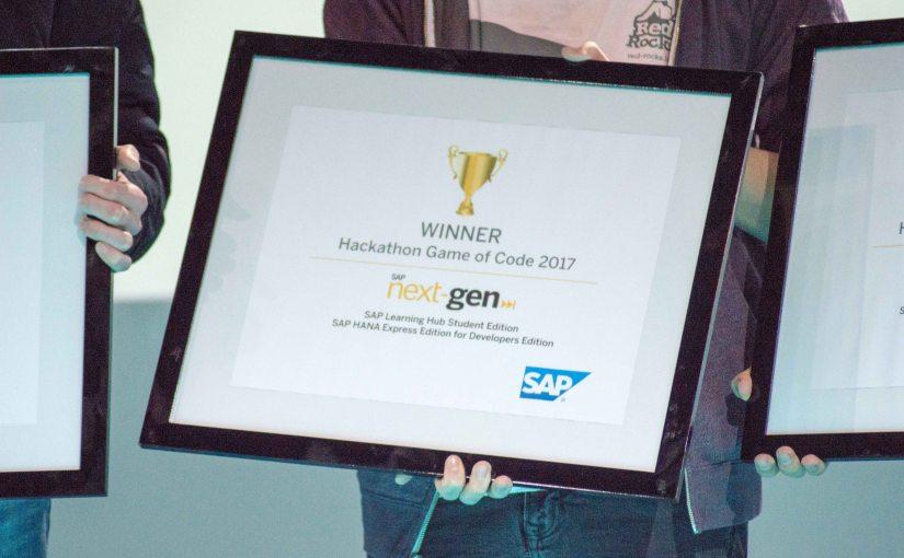 Game of Code Hackathone 2017 – SAP Next-GenAward