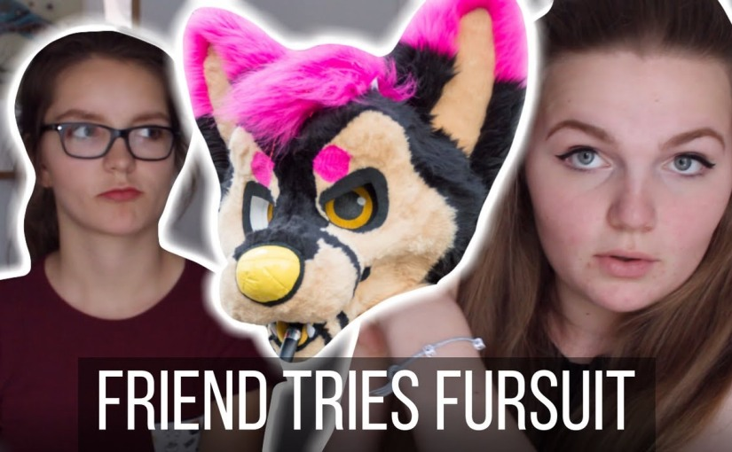 Non-Furry tries on Fursuit