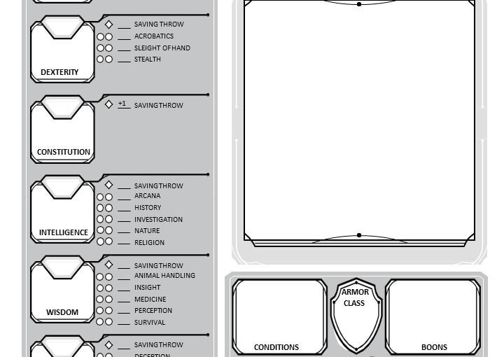 DnD – Custom CharacterSheet